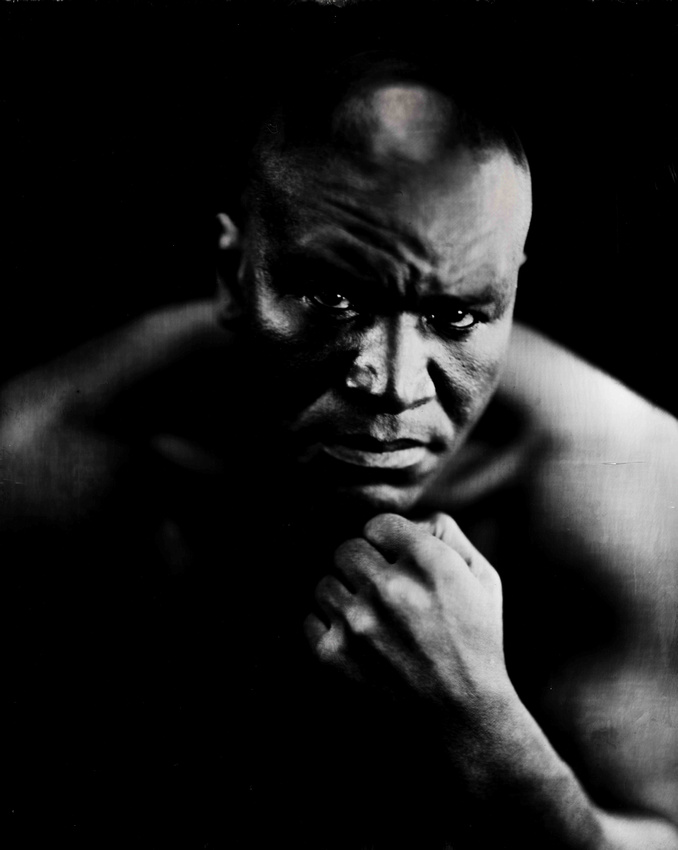 """A man they call """"The Real Deal"""". The 4-Time Heavyweight Champion of the World Evander Holyfield was in my wet plate studio yesterday for a brief hour. What an experience it was getting the opportunity to capture him on glass and silver. Millions and millions of conventional and digital images have been captured of him over his storied career, but never a wet plate. He talked intimately about his philosophy of fighting and his legacy. It is absolutely amazing to me what wonderful people this process has brought into my life. I want to personally thank everyone that has supported me on my wet plate journey over these past two years, you know who you are.   http://teamholyfield.com/"""